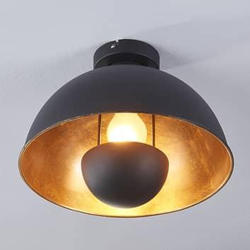 Lya loftlampe, sort og guld