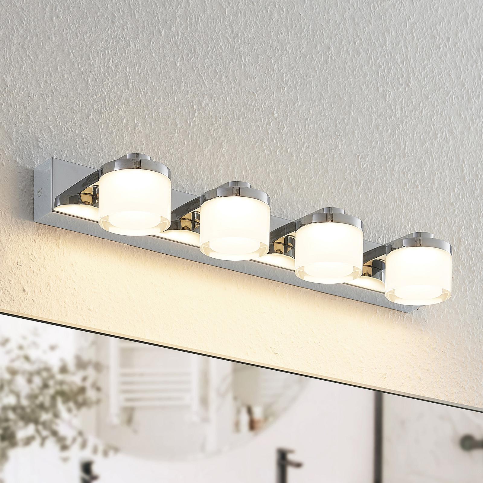 Arcchio Kejan LED-væglampe, IP44, 4 lyskilder