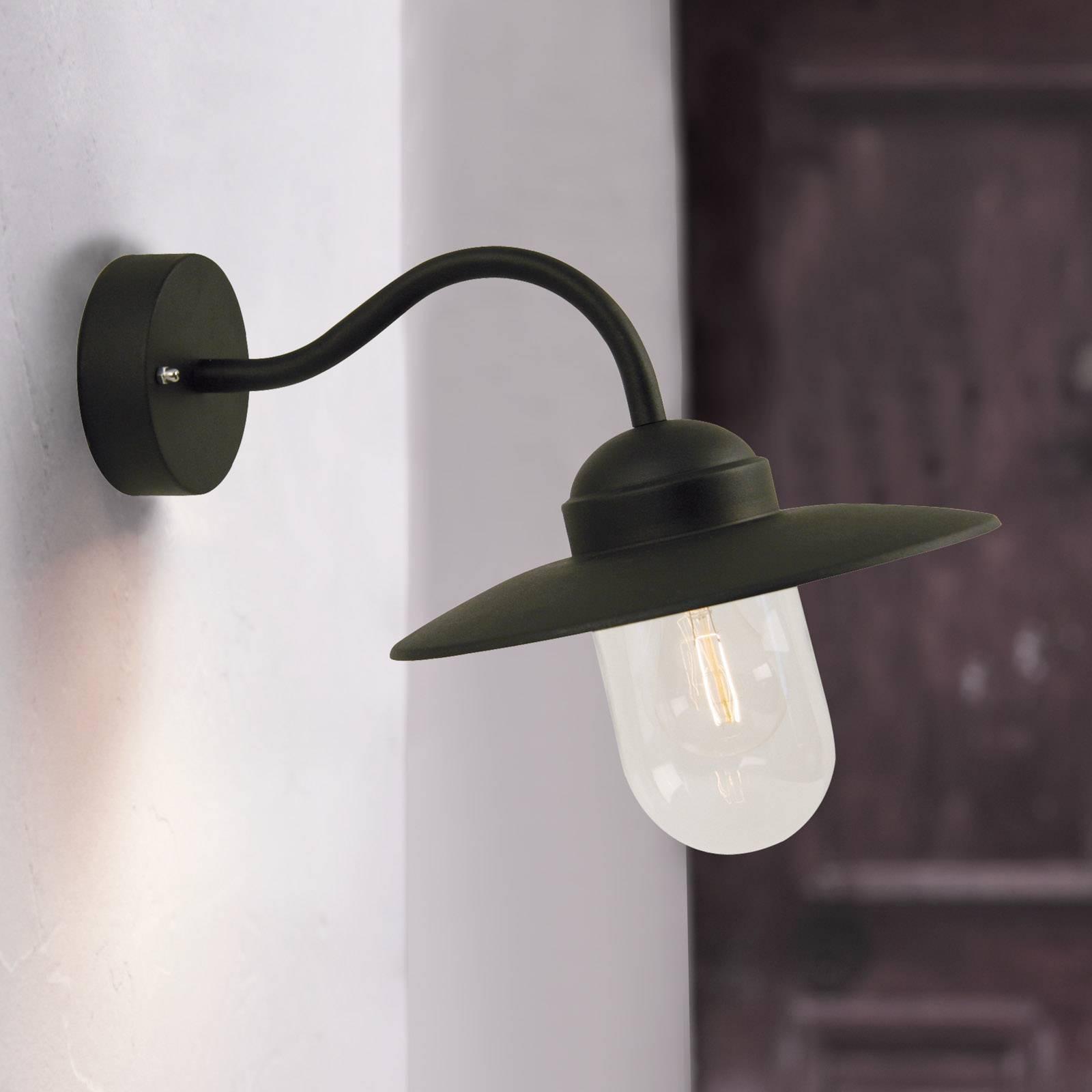 Billede af Sort LUXEMBOURG udendørs væglampe.