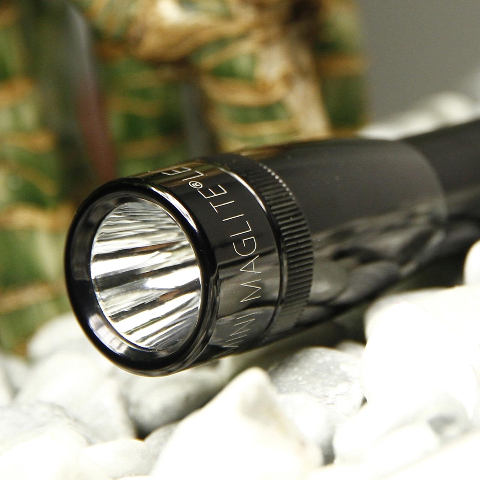 LED Mini-Maglite praktisk lommelygte, sort