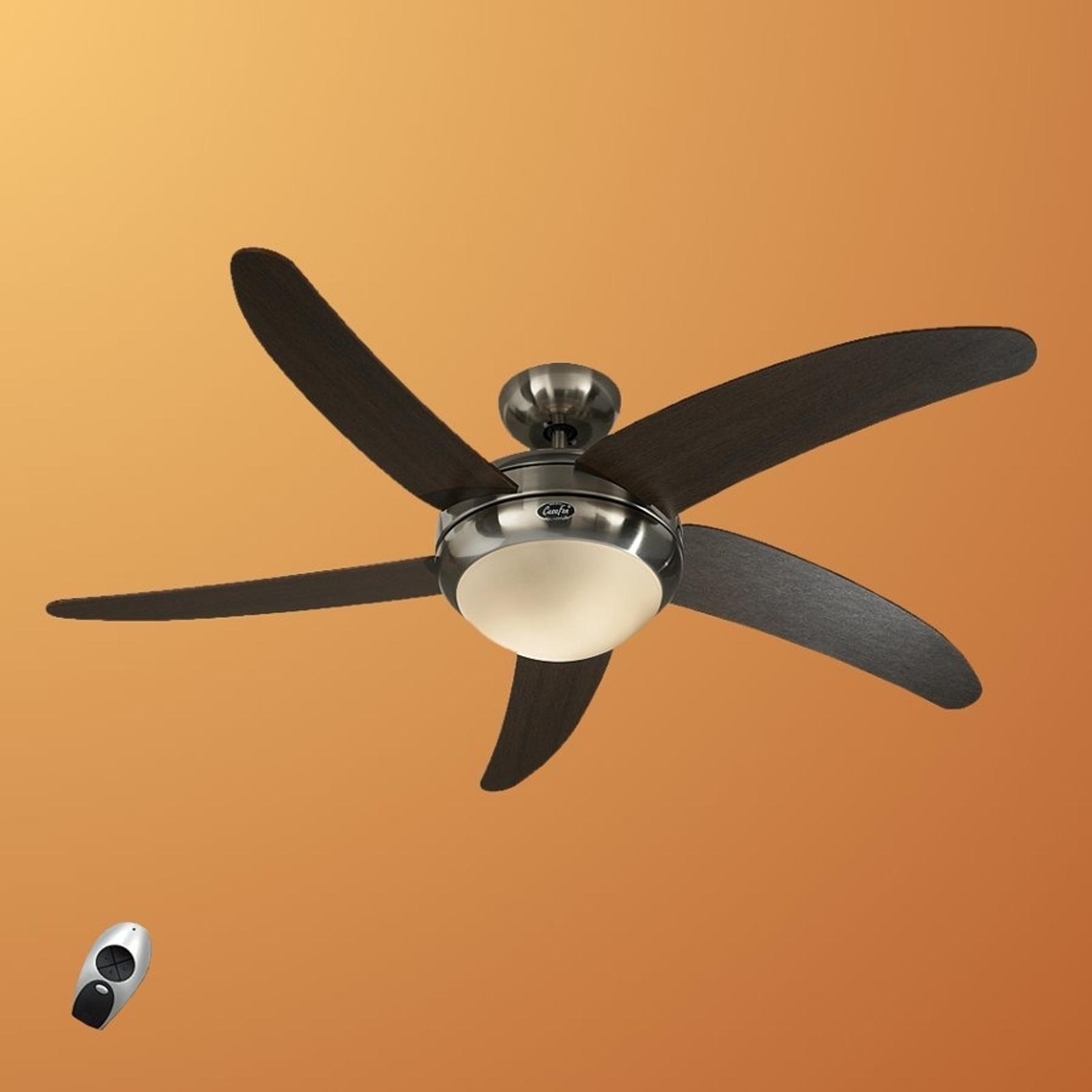 Moderní stropní ventilátor Elica, chrom a wenge