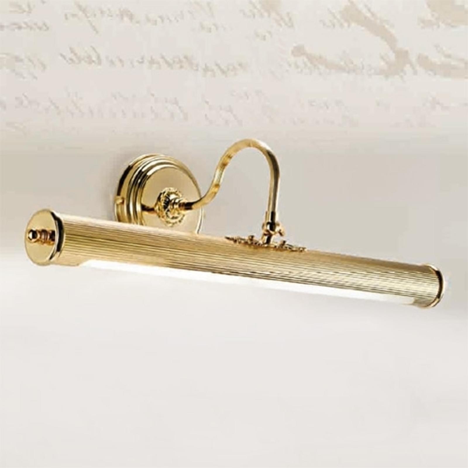 Exklusiv tavellampa Dario, guldfärgad