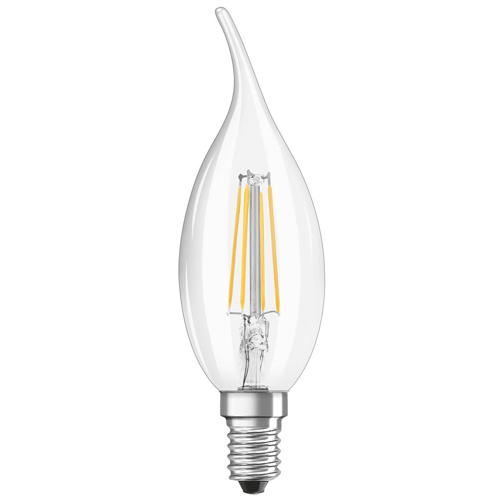 OSRAM żarówka świeca LED E14 4W 2700K podmuch
