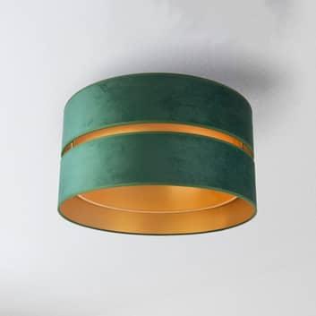 Deckenleuchte Duo aus Textil, grün/gold, Ø40cm