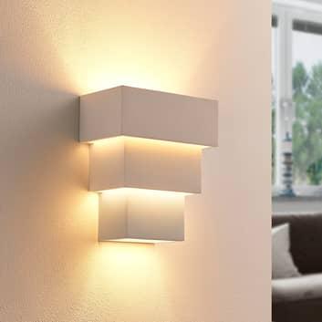 LED-Wandlampe Antonella aus Gips