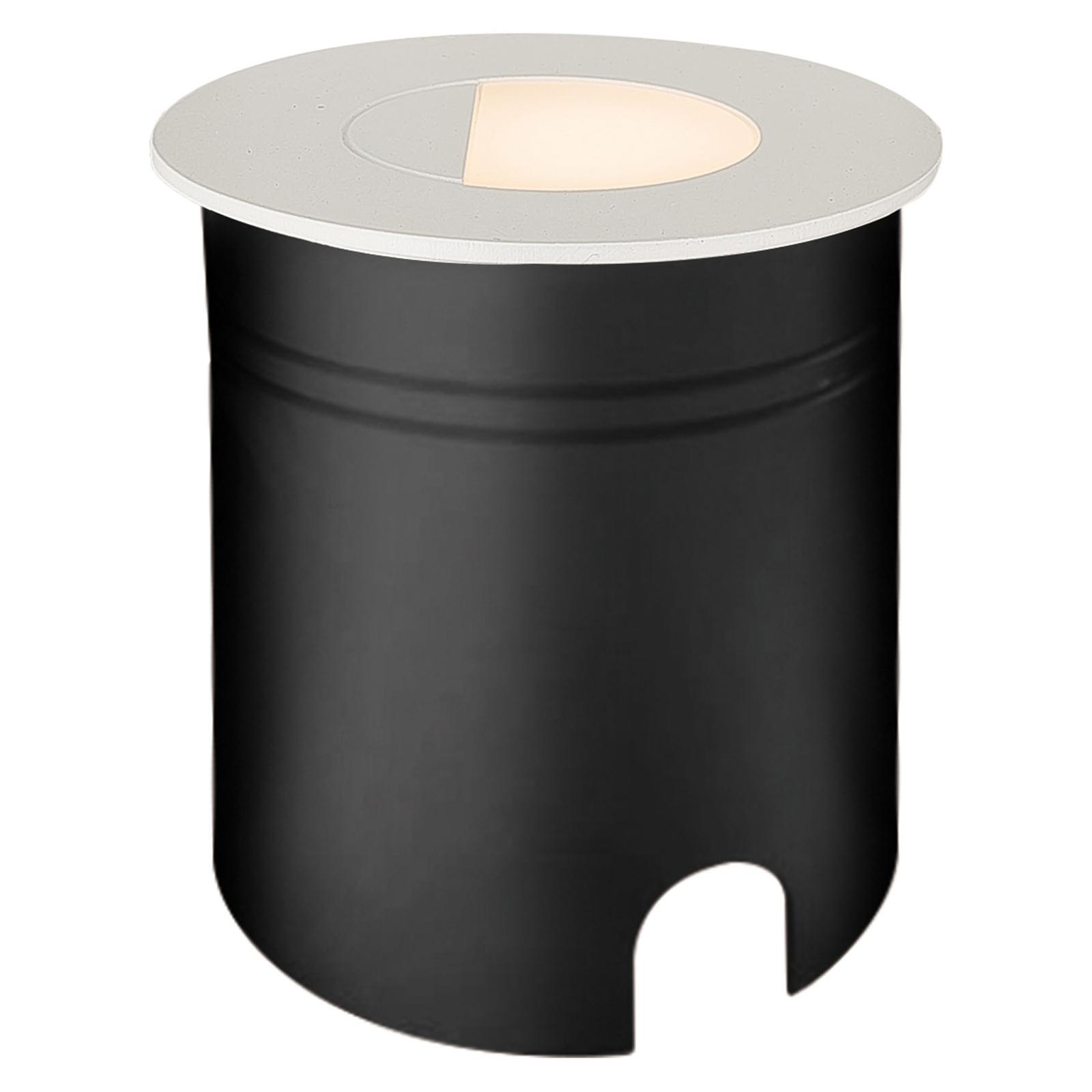 LED-Einbauleuchte Aspen mit Diffusor, rund, weiß