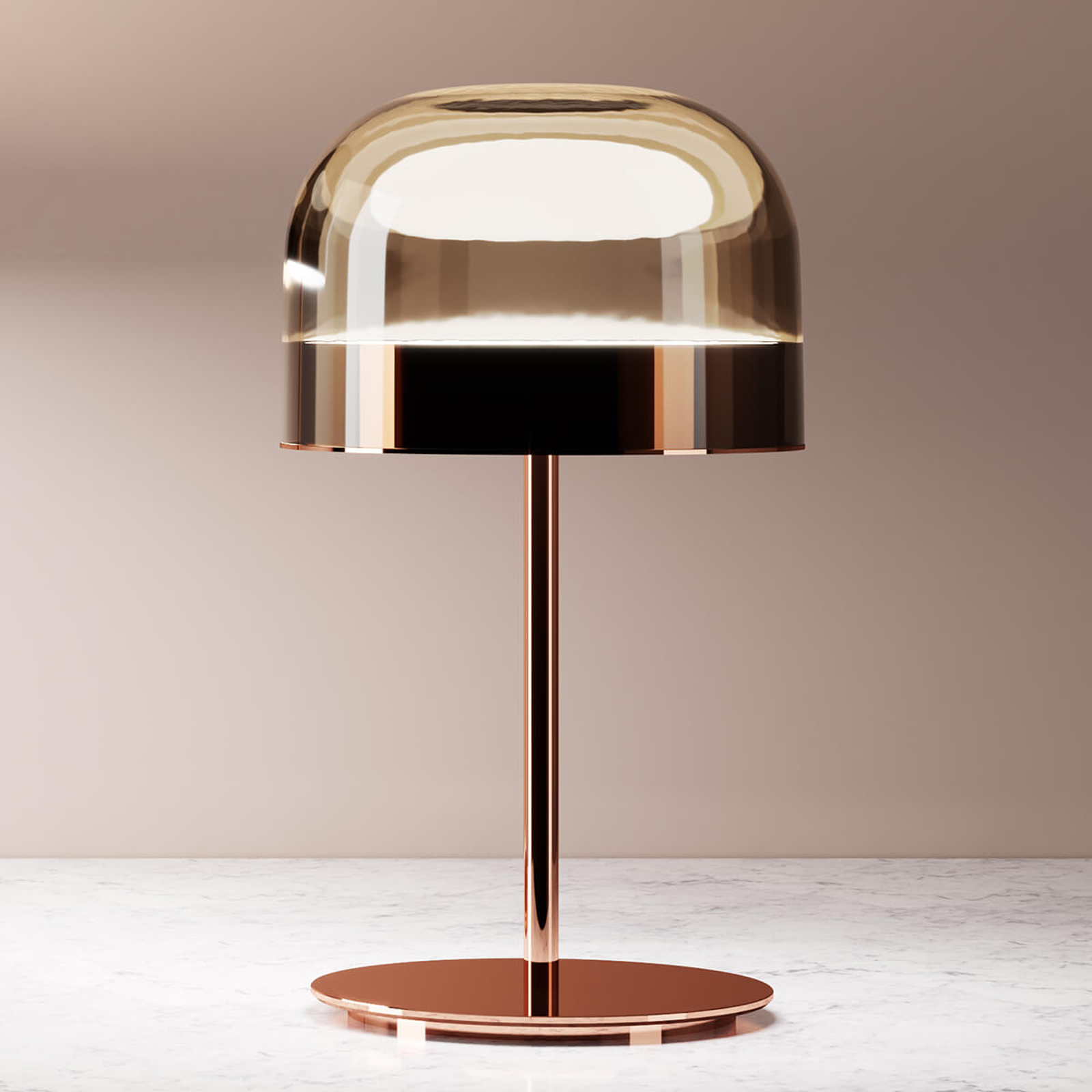 Equatore - LED bordlampe i kobber, 42,5cm