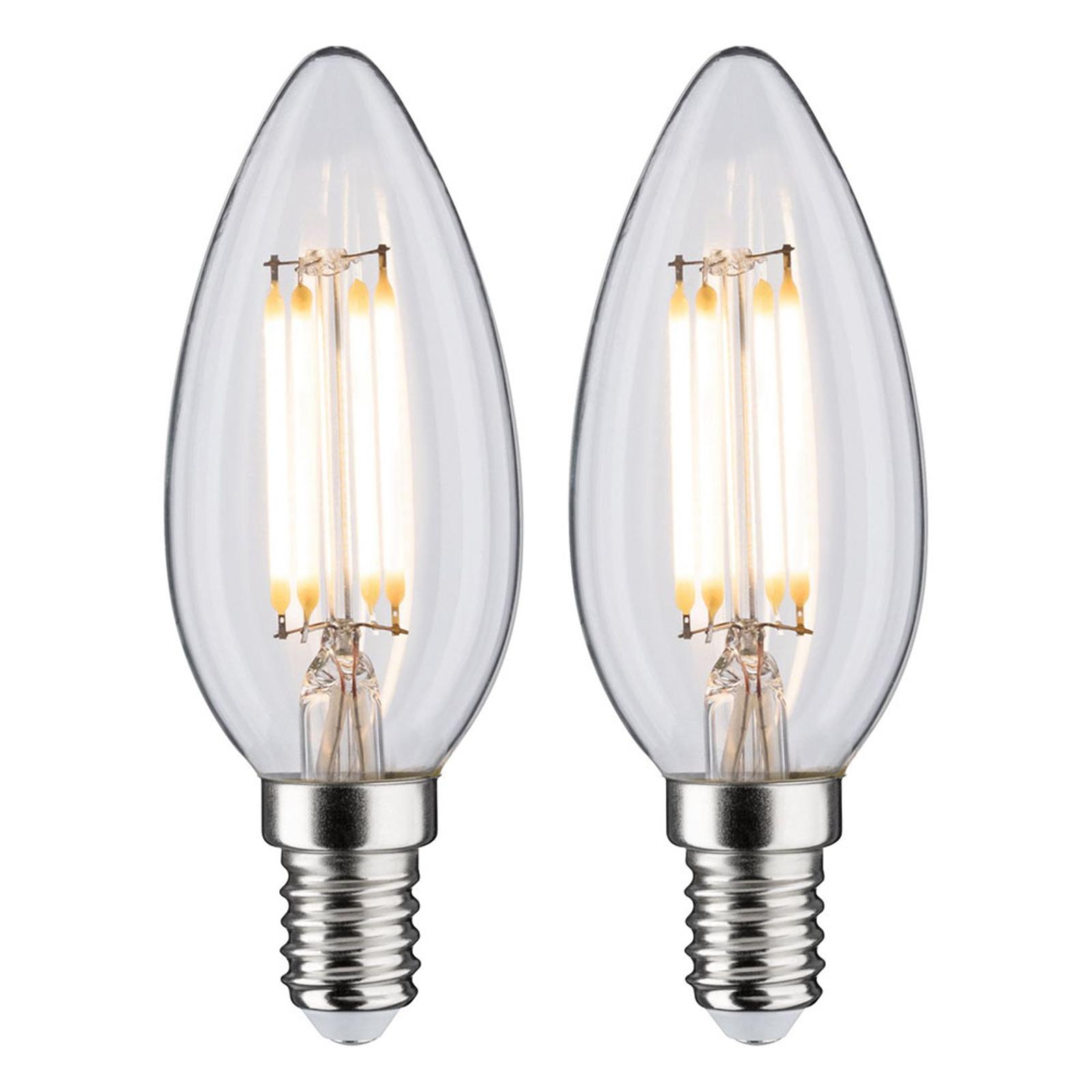 Paulmann LED-Kerze E14 4,5W Filament 2.700K 2er