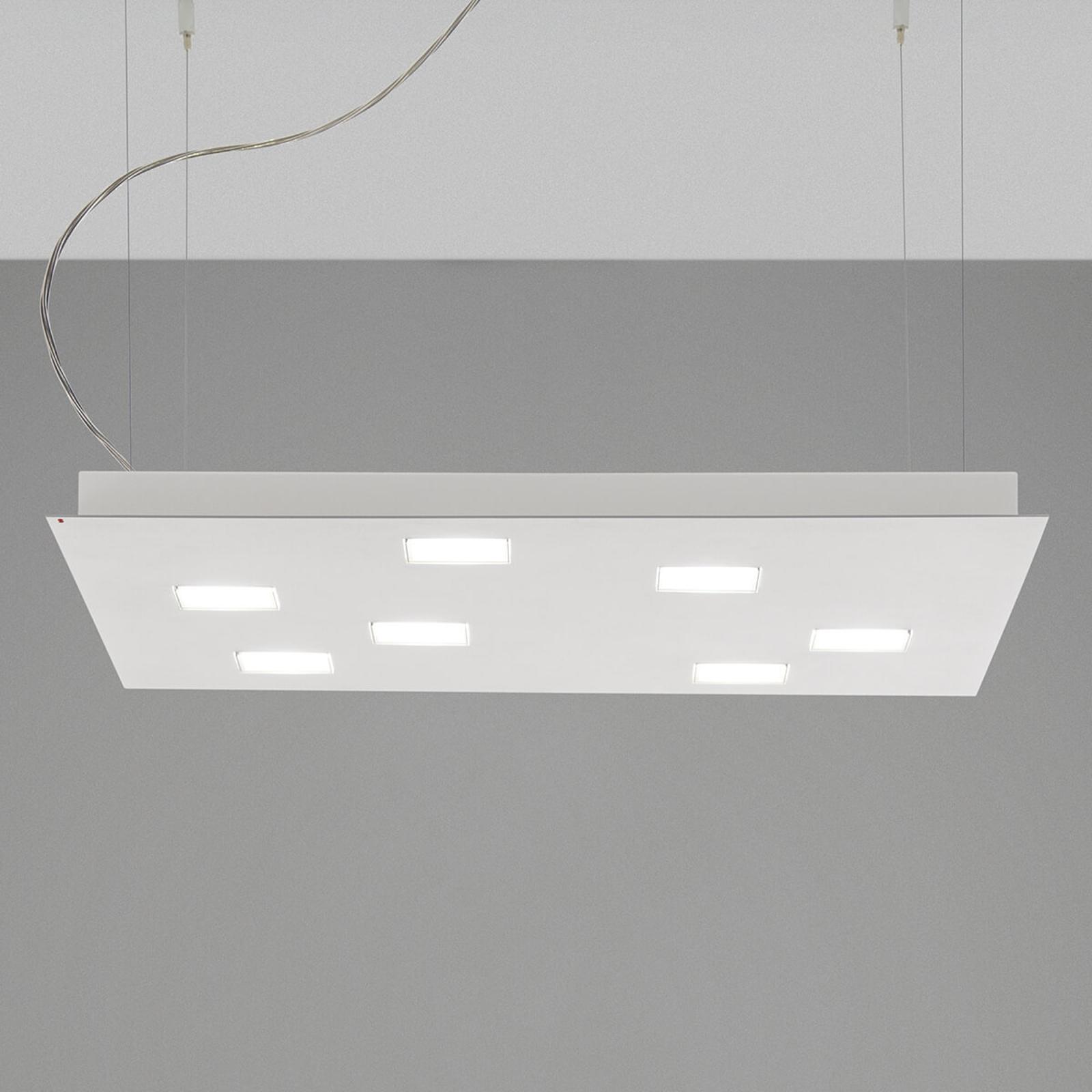 Kwadratowa lampa wisząca LED Quarter, biała