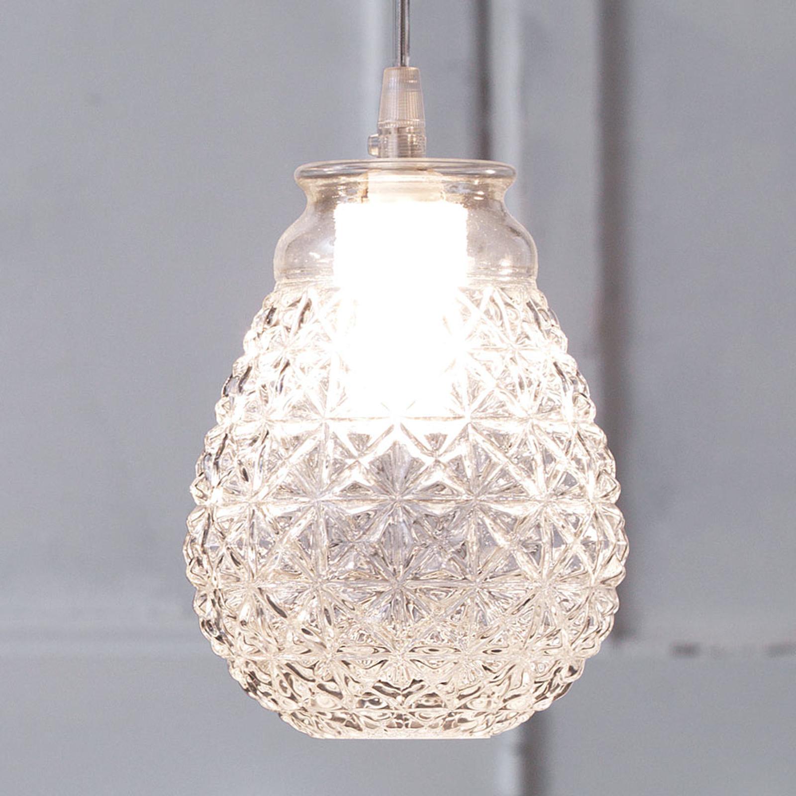 Karman Ceraunavolta szklana lampa wisząca, kropla