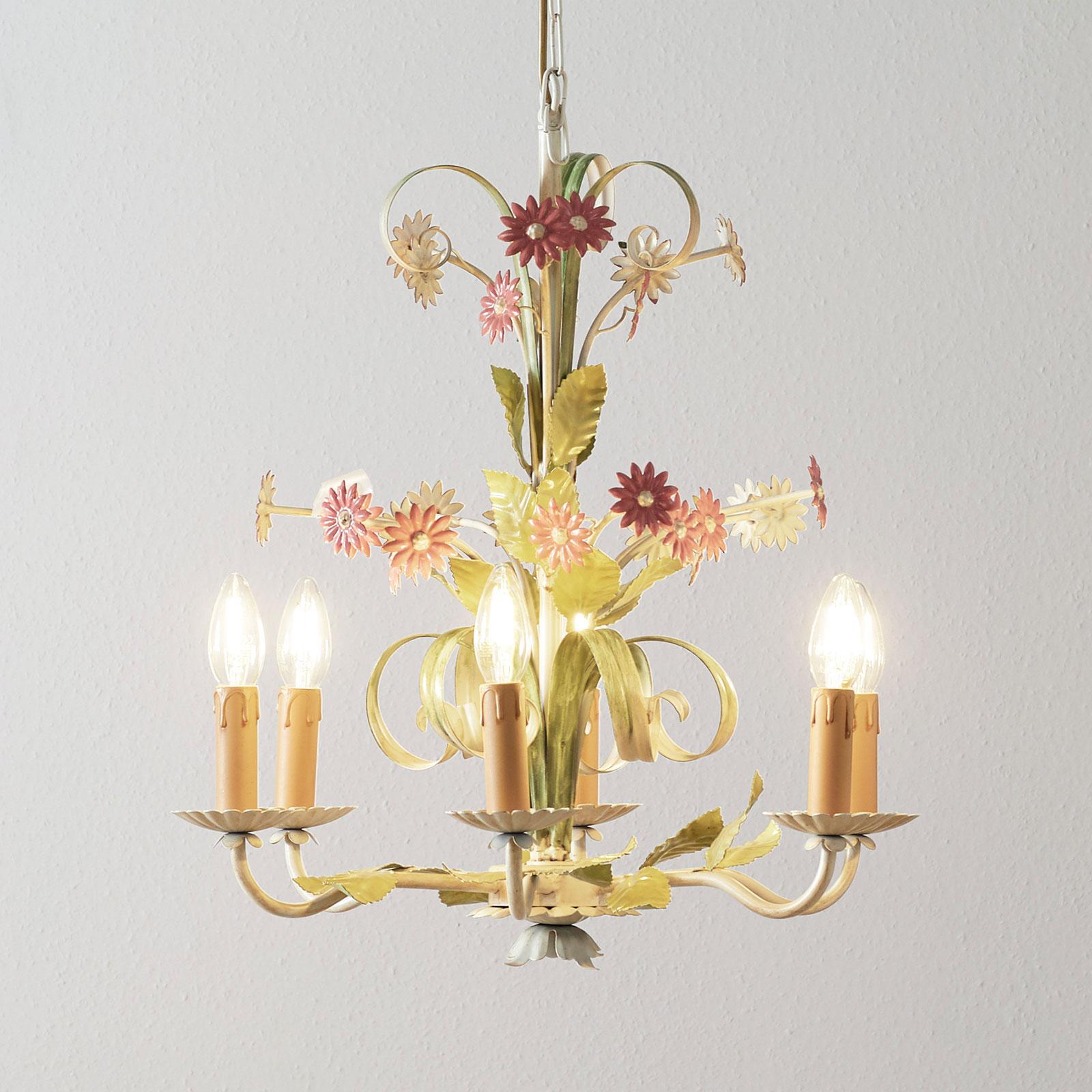 Florentinsk ljuskrona Toscana, 6 lampor