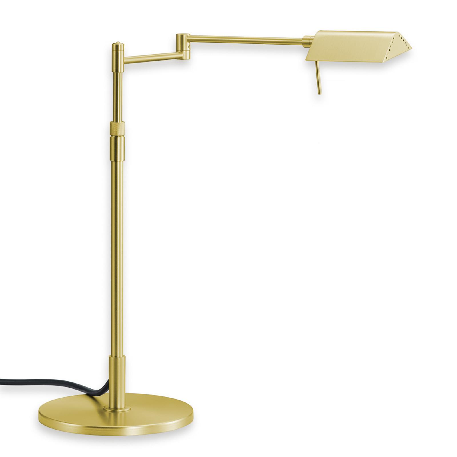 Ściemniana lampa stołowa LED Pur matowy mosiądz