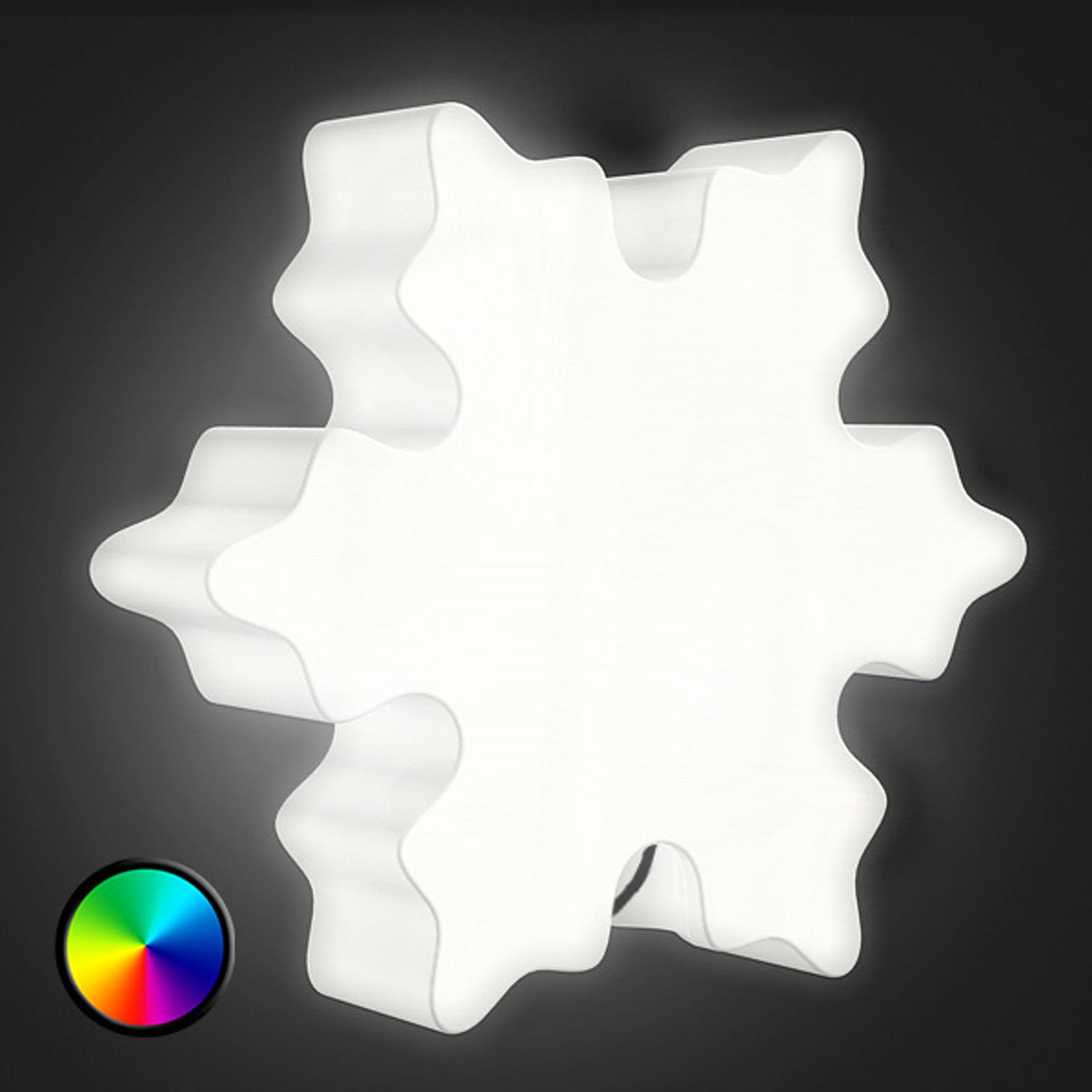 Utendørs dekorlampe Shining Crystal med LED-lys