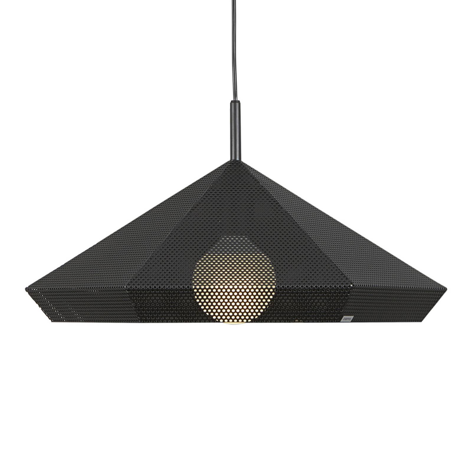 Zwarte hanglamp Priamus met geperforeerd patroon