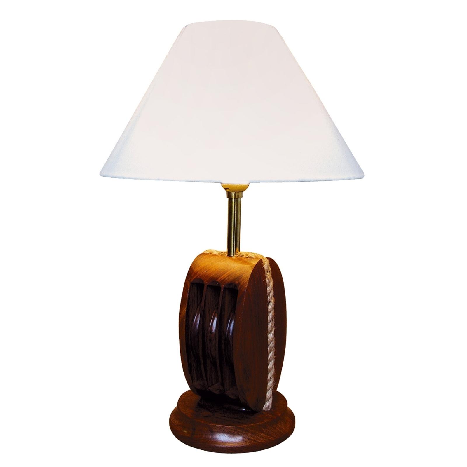 Originele tafellamp AHOI met hout, 52 cm hoog