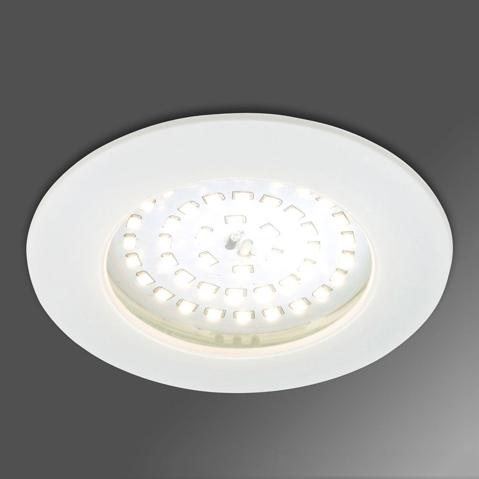 Výrazné LED podhledové svítidlo Paul bílá