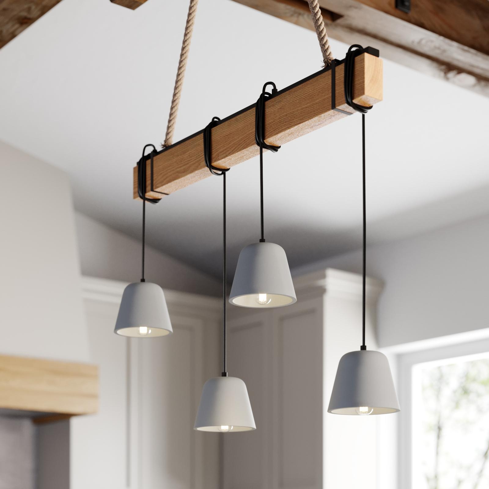 Lucande Hakona træ-hængelampe