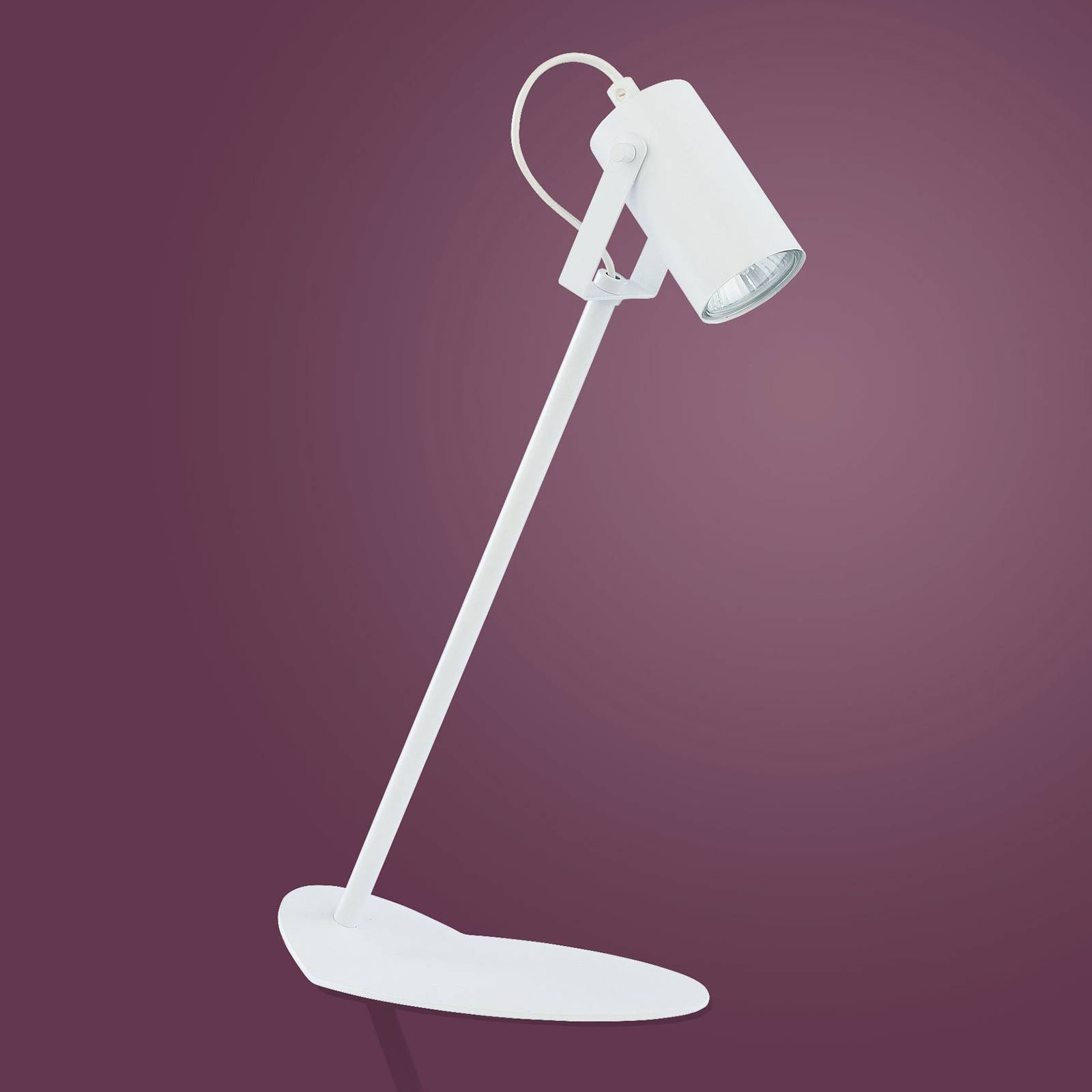 Tafellamp Redo van metaal, wit