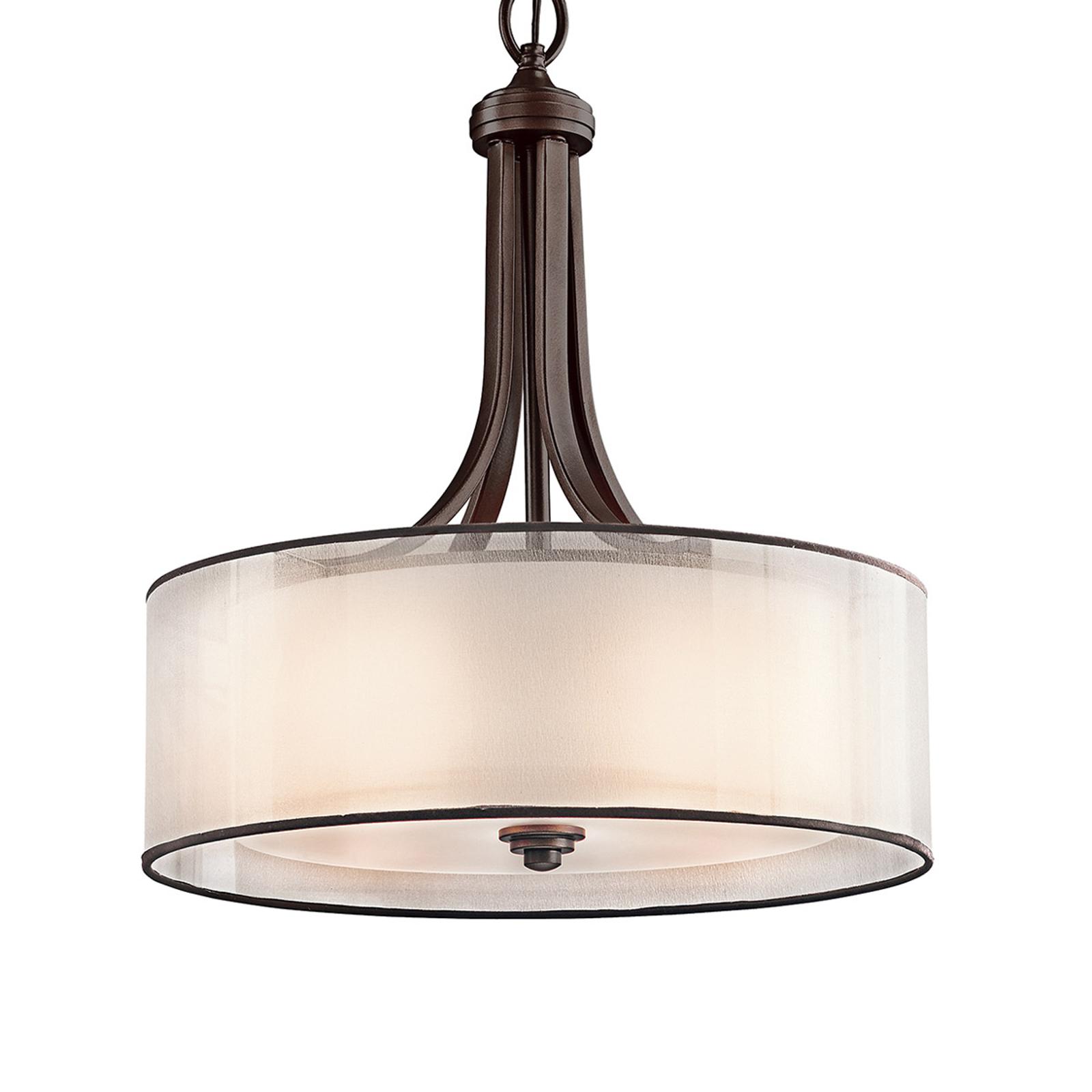 Lacey hængelampe med dobbeltskærm