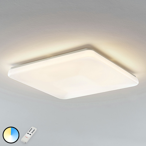 Plafonnier LED Indika couleur changeante CCT carré