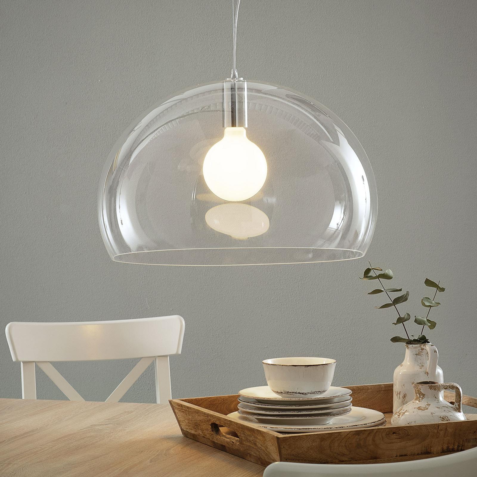 Kartell FL/Y - LED závěsné světlo, transparentní