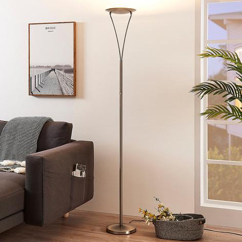 Schlichter LED-Deckenfluter Mauricio, nickel matt