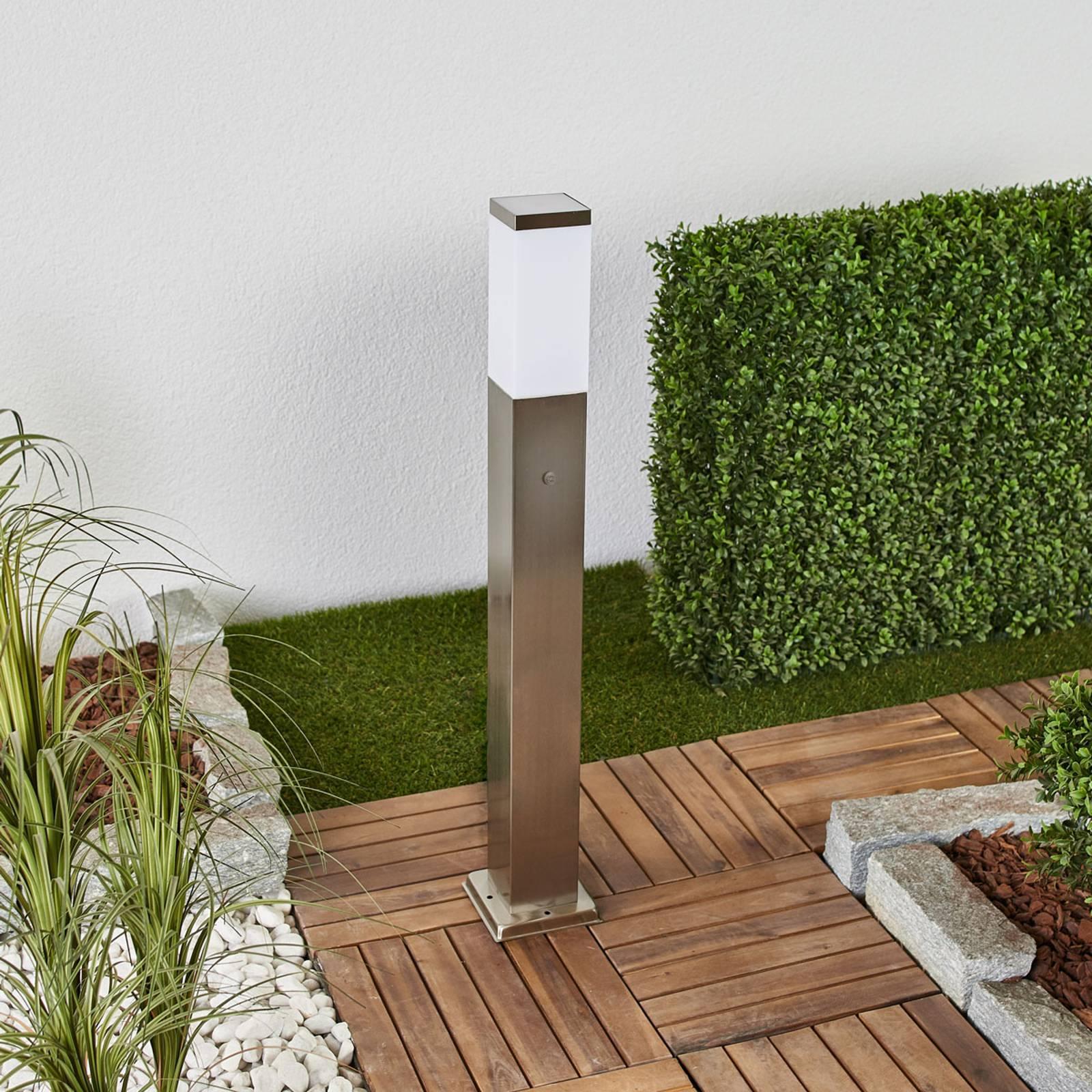 Słupek ogrodowy LED 400166 dwa gniazda, czujnik