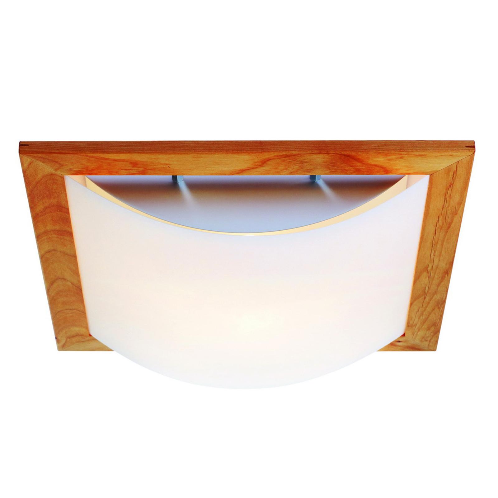 Stella - lámpara de techo con madera y lunopal
