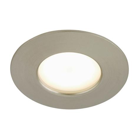 Spot encastré LED Till pour l'ext., nickel mat