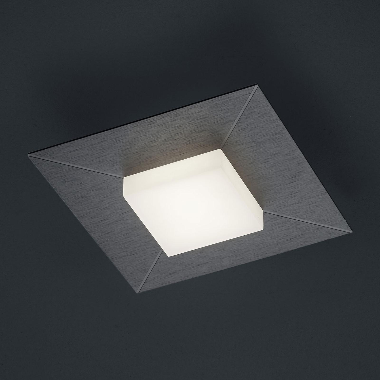 BANKAMP Diamond plafondlamp 17x17cm, antraciet