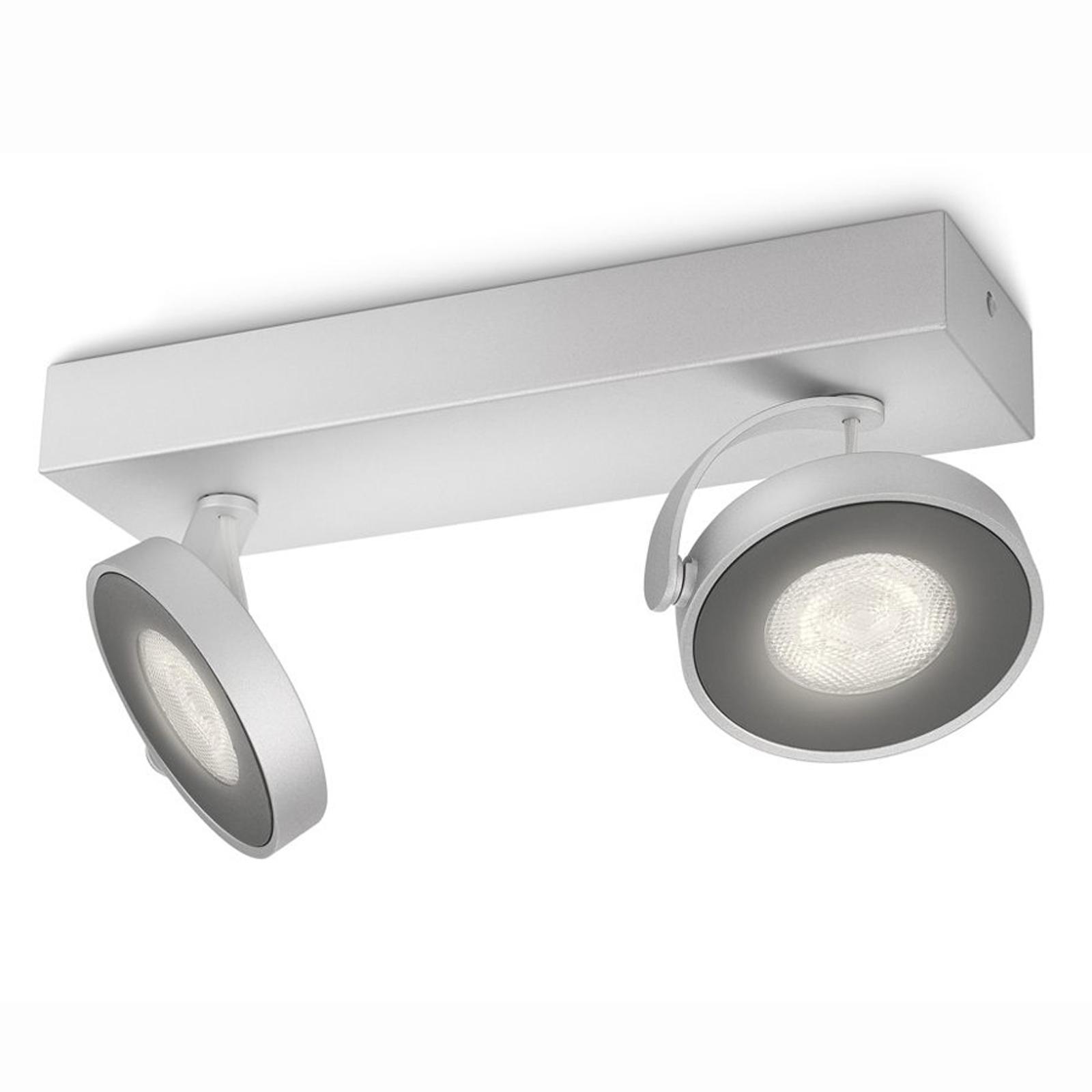 Philips Clockwork LED-Deckenstrahler grau 2-flg.