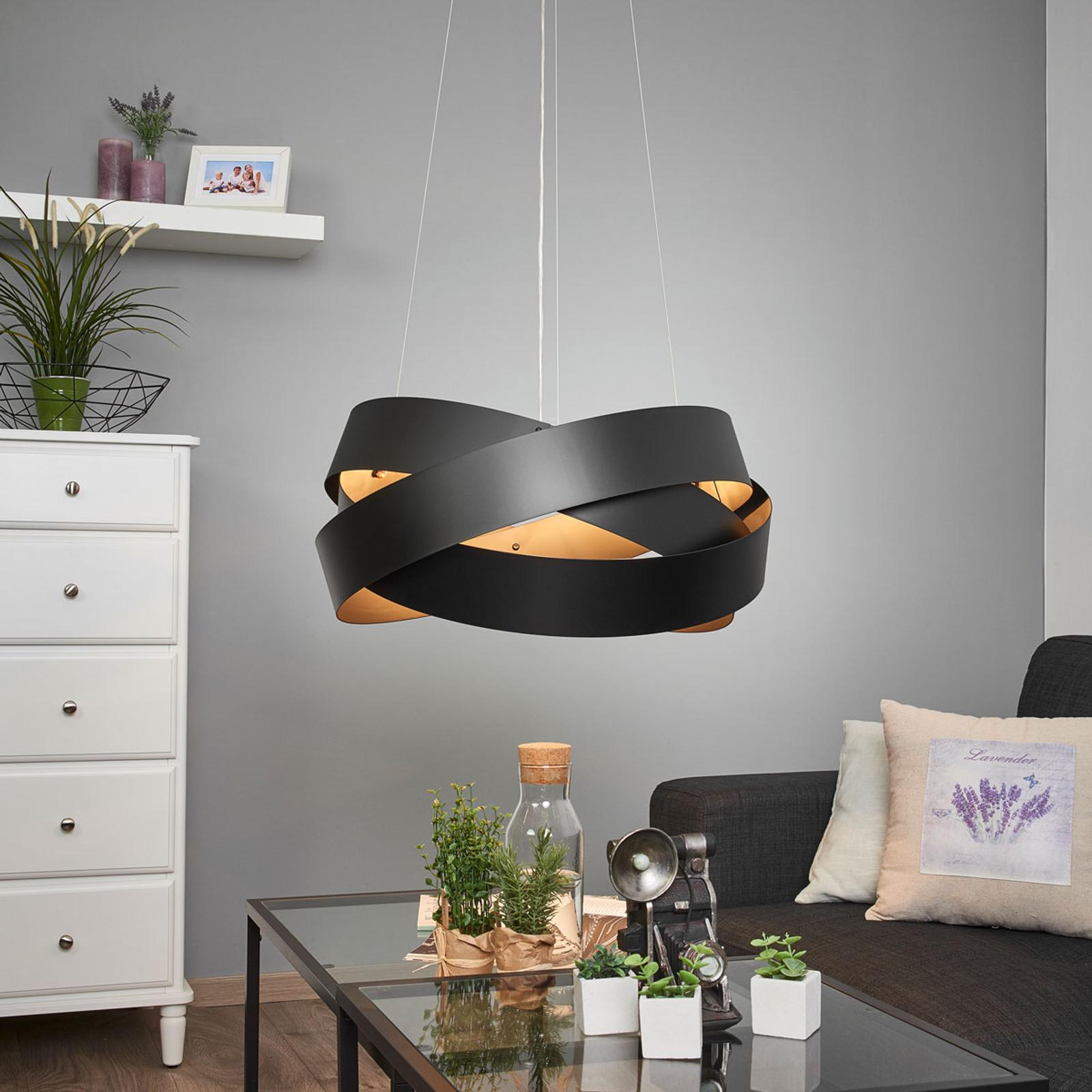 Lampa wisząca Pura, czarna