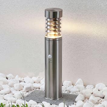 Lindby Piper lampioncino di acciaio con sensore