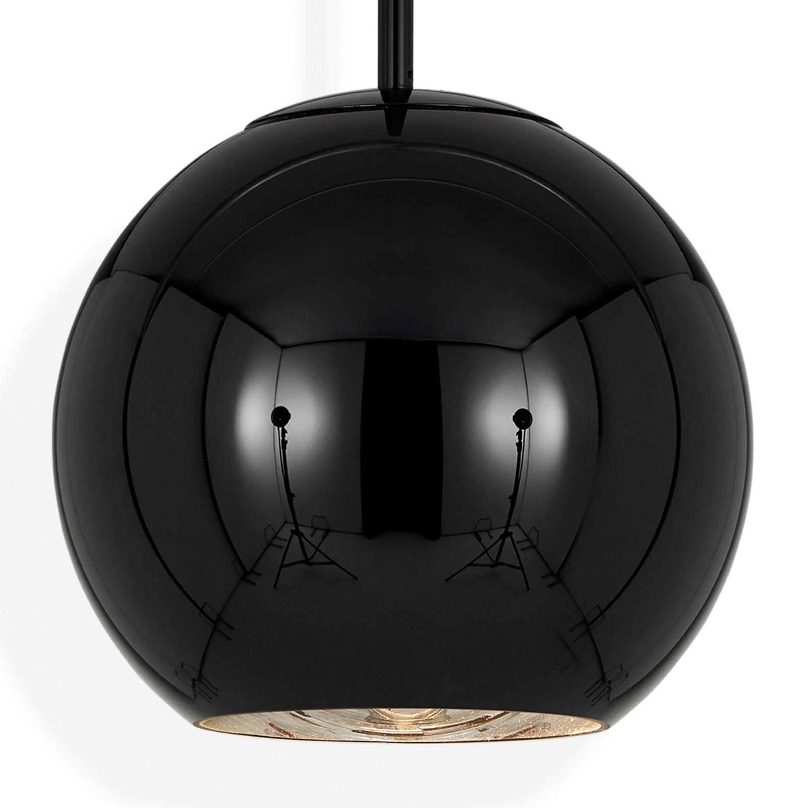 Tom Dixon Copper Round 25 hængelampe, sort