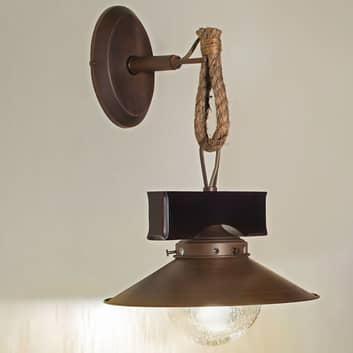 Lampa ścienna Nudos z miksu materiałowego