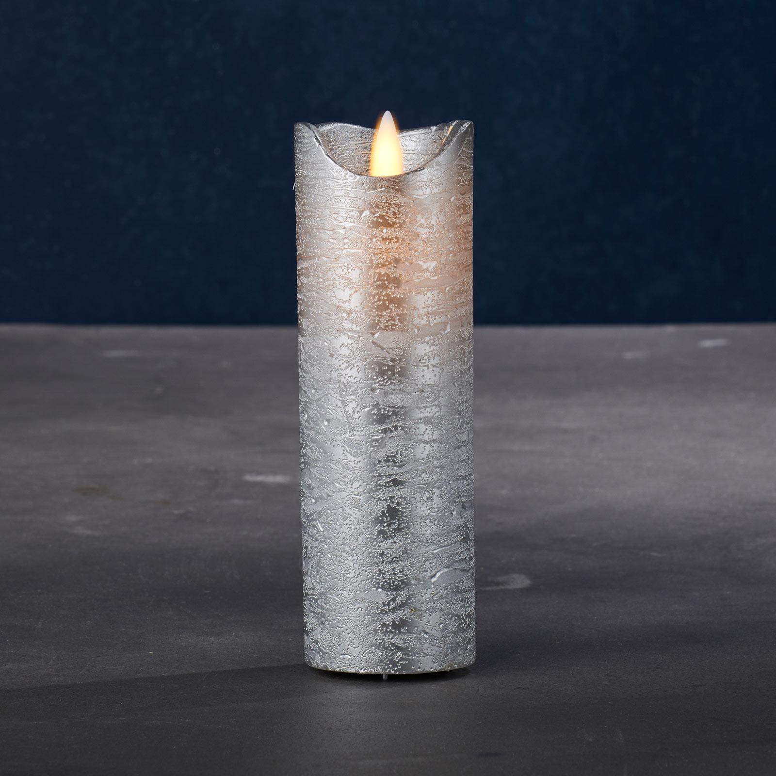 LED-Kerze Sara Exclusive, silber, Ø 5cm, Höhe 15cm