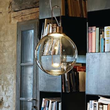 Modo Luce Orb LED a sospensione, PMMA grigio fumè