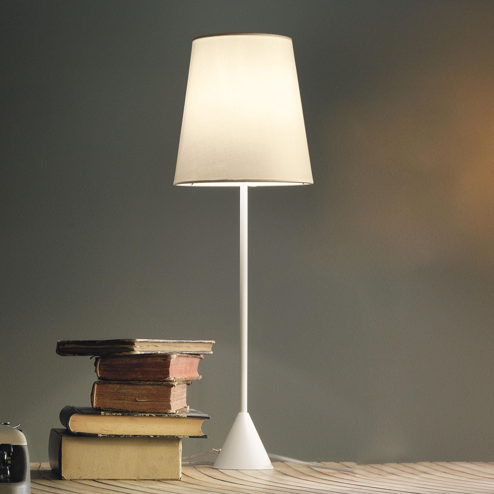 Modo Luce Lucilla lampe table Ø24cm blanche/ivoire