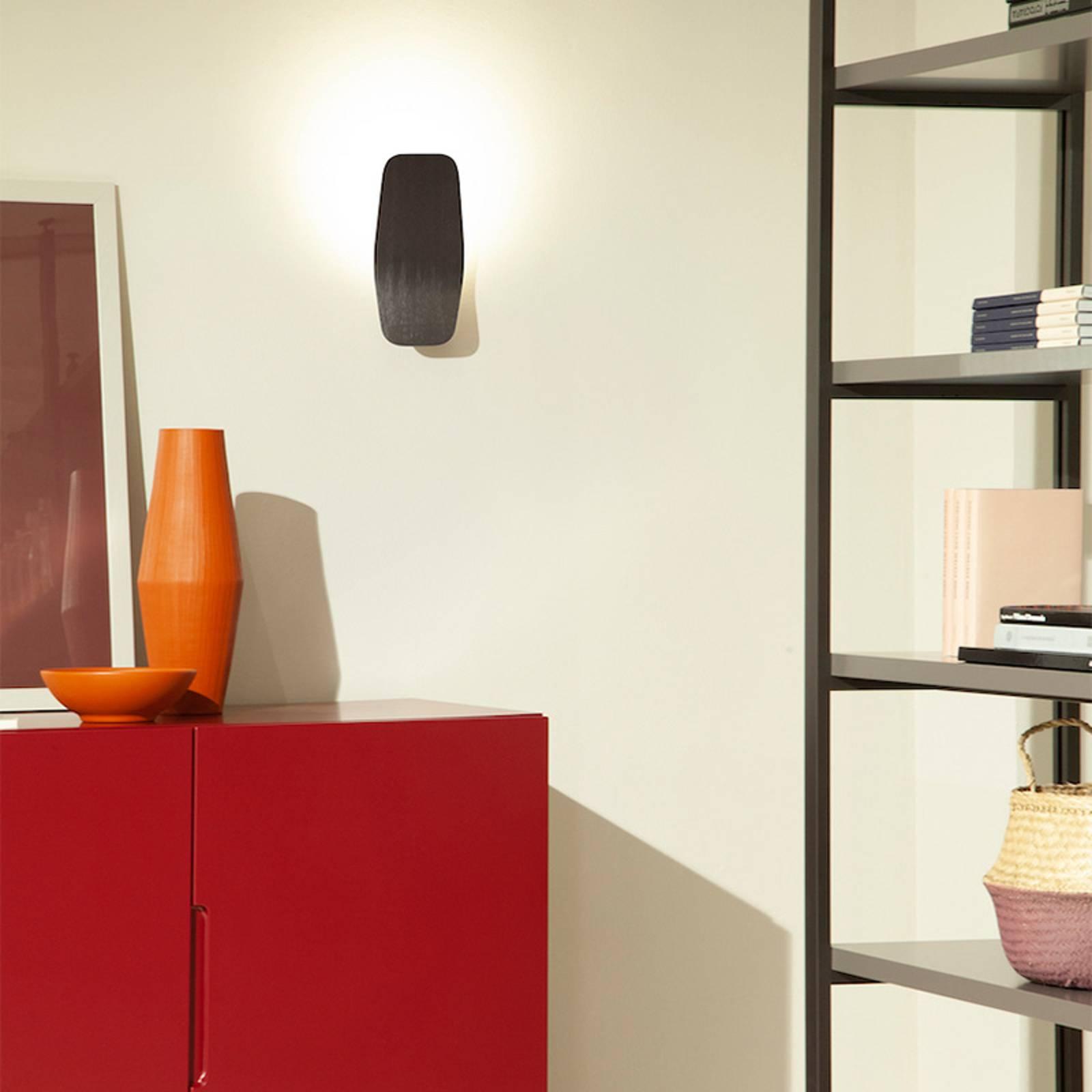 Casablanca Ashiya LED wandlamp, titaanzwart