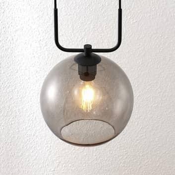 Lindby Dasita lámpara colgante, vidrio humo, 1 luz