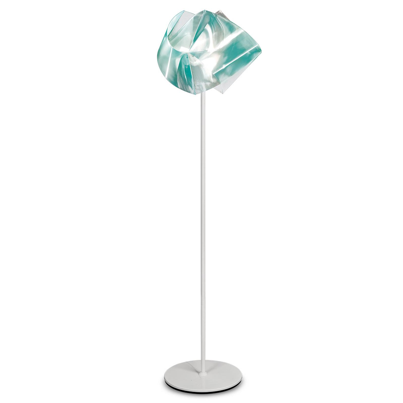 Szmaragdowa lampa stojąca GEMMY PRISMA