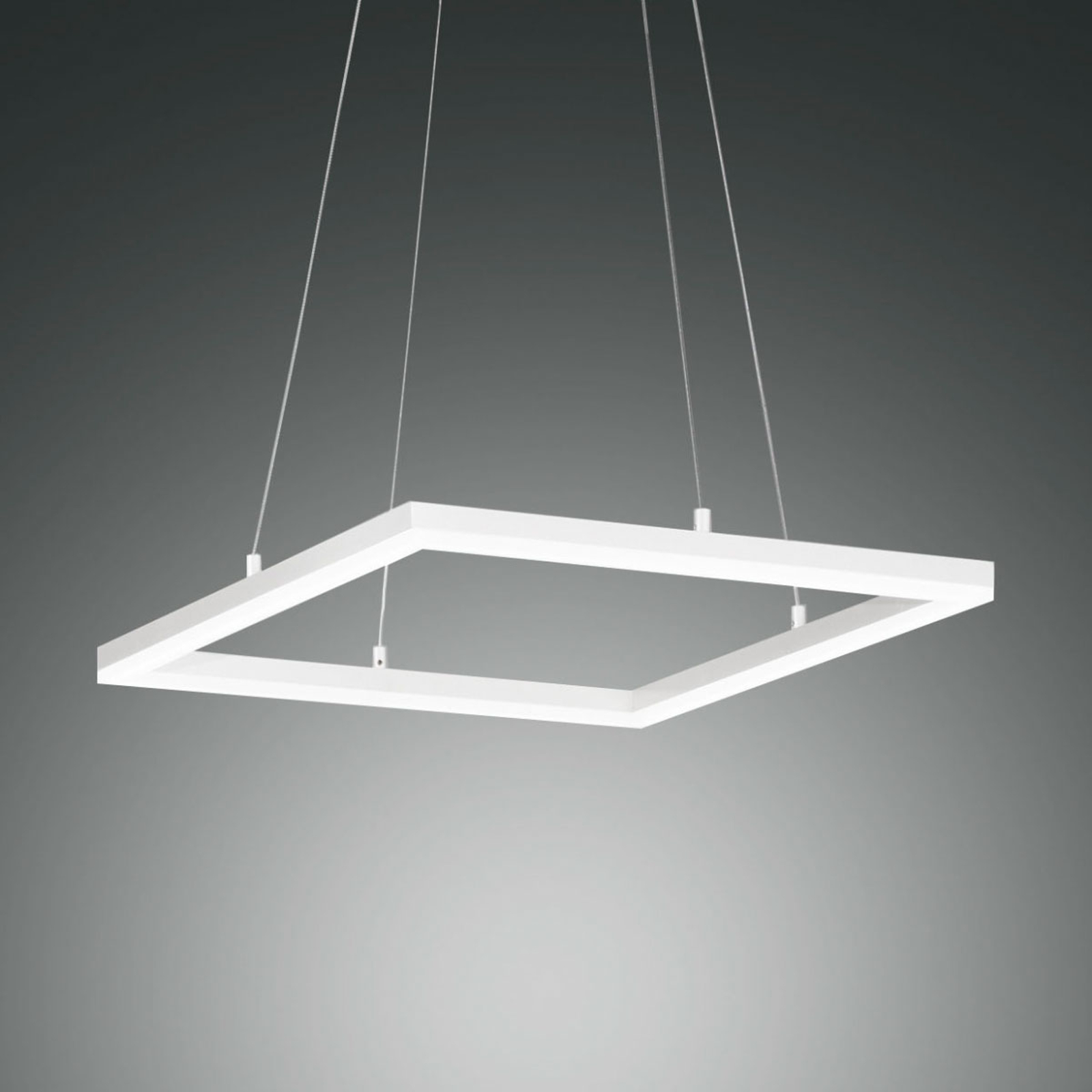 LED-Pendelleuchte Bard, 42x42cm in Weiß