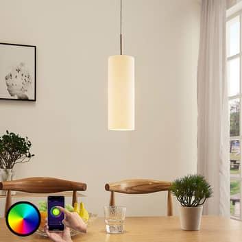 Lindby Smart-LED-pendellampe Felice med RGB-pære