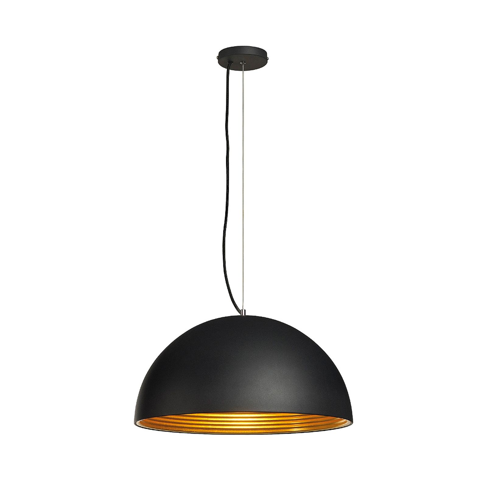 Lampa wisząca FORCHINI M, 50 cm, czarno-złota