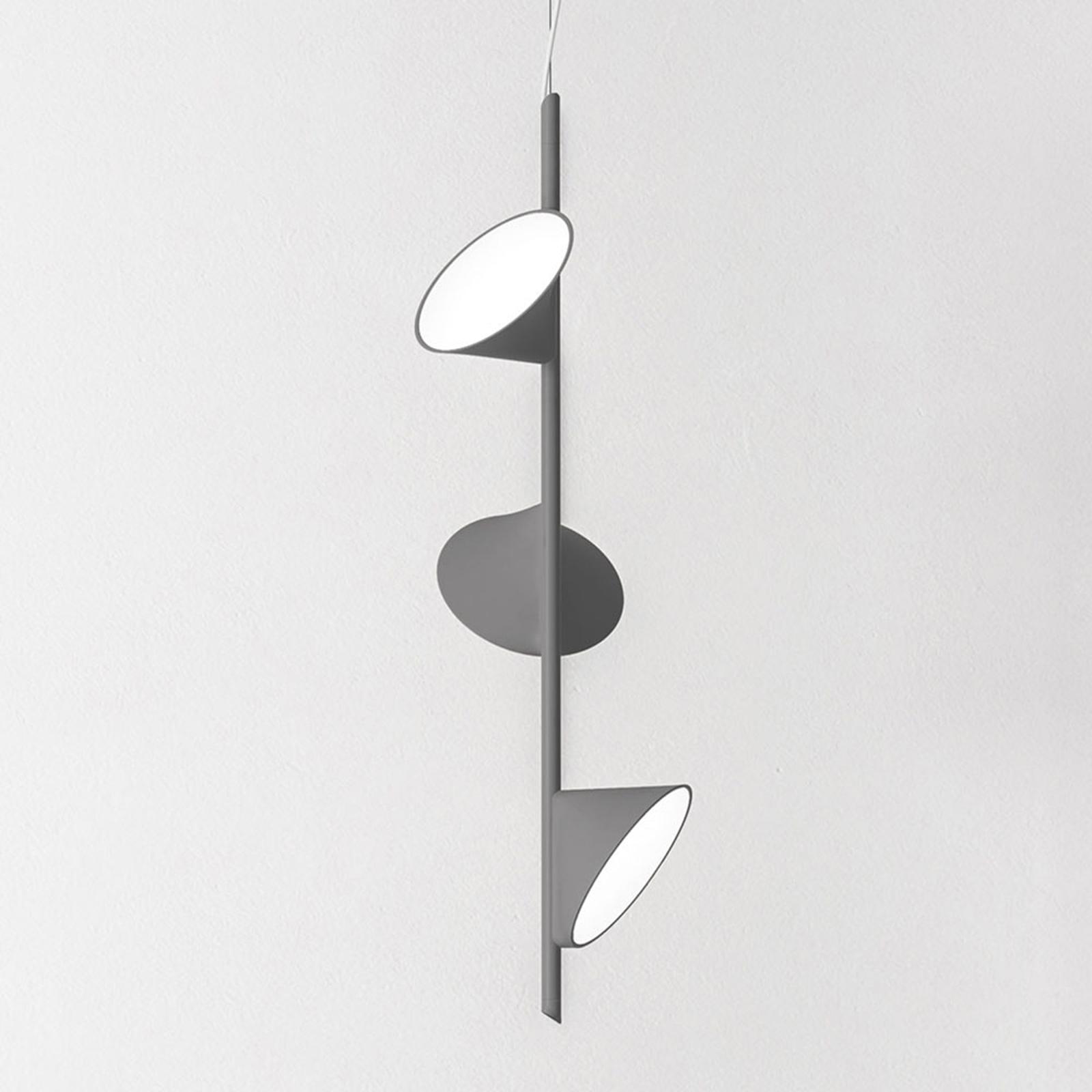 Axolight Orchid LED-Hängeleuchte, dreiflammig grau