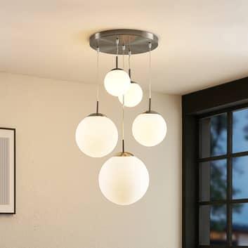 Lindby Heleska, závěsné světlo, pětižárovkové