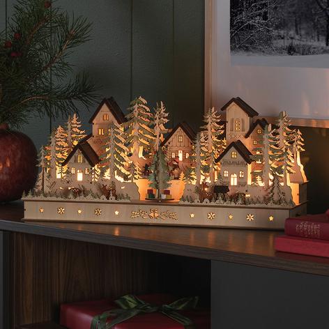 LED-Schwibbogen Haus und Figuren