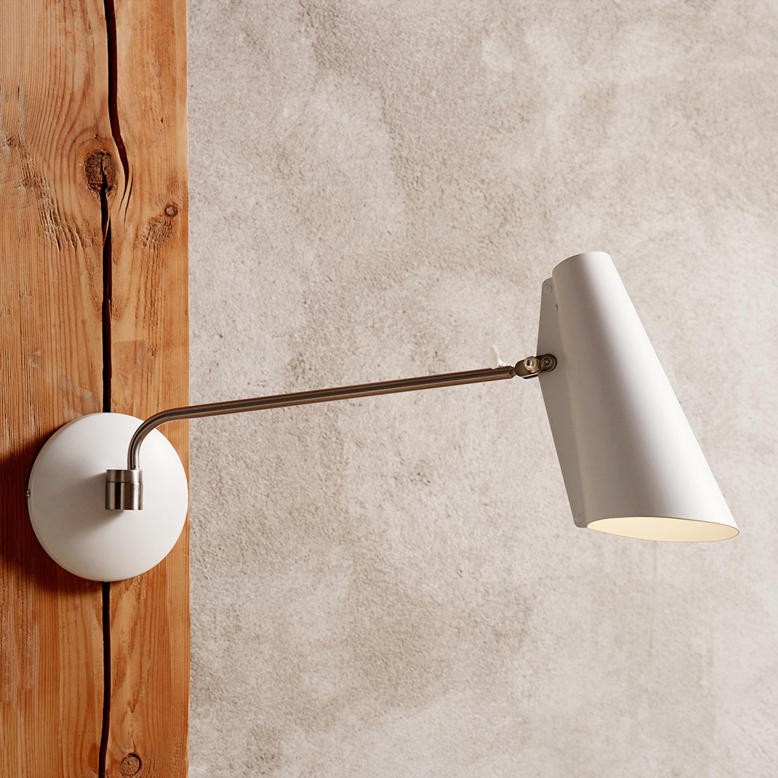 Northern Birdy - hvid retro-væglampe