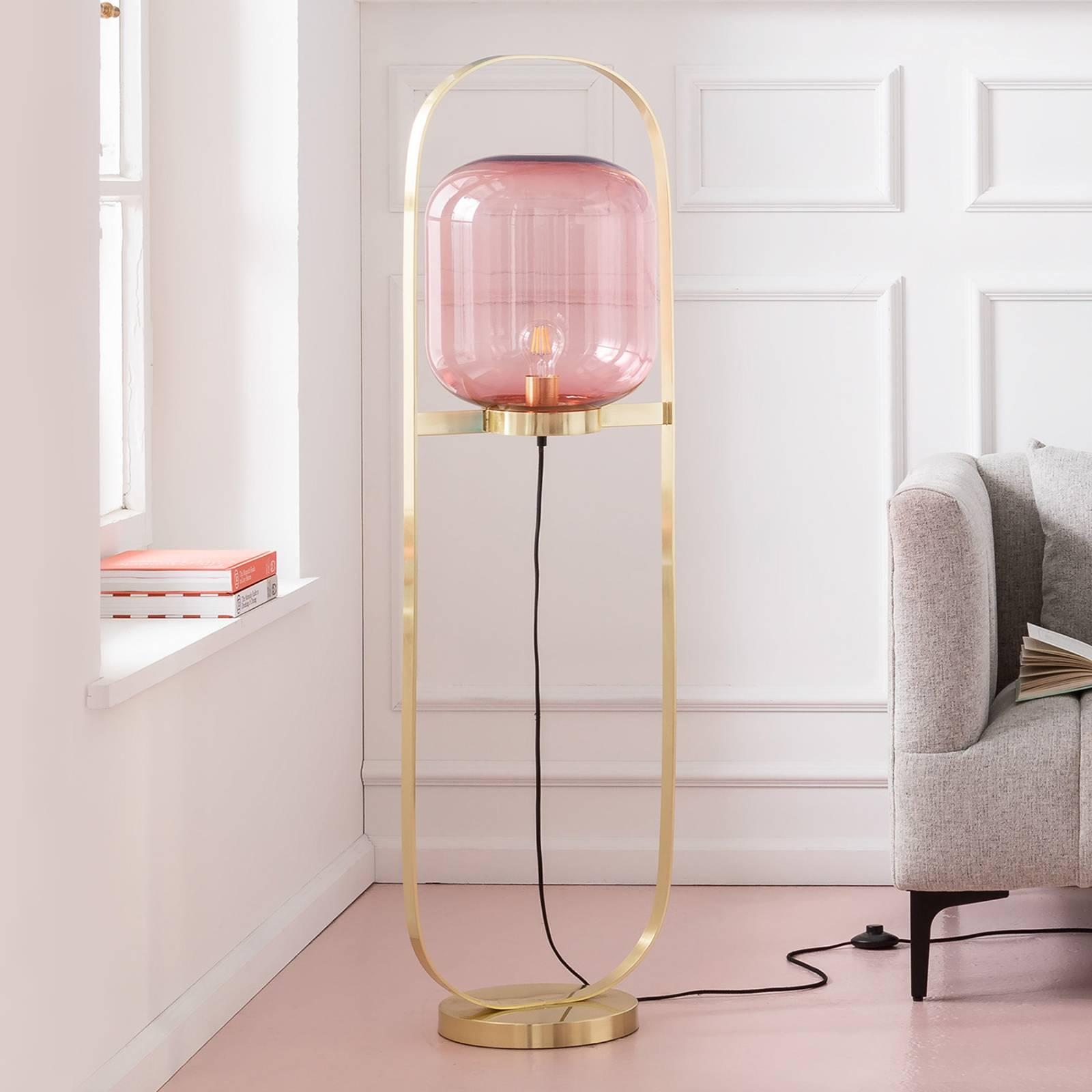 KARE Jowisz lampa stojąca, różowa-mosiądz