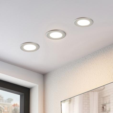 LED-kohdevalo Joki hopea 3000K pyöreä 11,5 cm